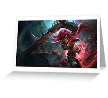 Katarina League of Legends Greeting Card