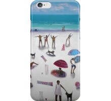 yoga on the beach iPhone Case/Skin
