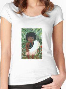 Maori Girl Women's Fitted Scoop T-Shirt