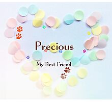 Precious -my best friend Photographic Print
