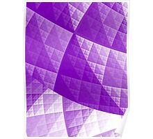 Violet abstract pattern Poster
