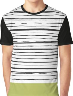 Abstract Chartreuse Graphic T-Shirt