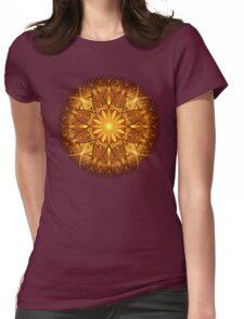 Sun Flower Mandala Womens Fitted T-Shirt
