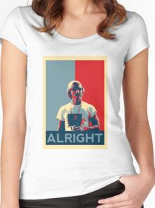 Wooderson (dazed & confused movie quote) - Alright Alright Alright Women's Fitted Scoop T-Shirt