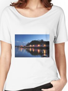 Portree Harbour at night Women's Relaxed Fit T-Shirt