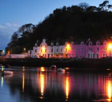 Portree Harbour at night Sticker