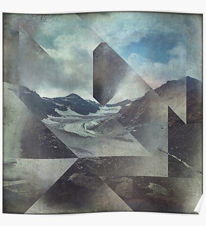 Mountains & Glacier Cuts Poster
