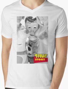 True Story - Naughty Woody Mens V-Neck T-Shirt