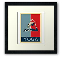 I love yoga - hope poster parody Framed Print