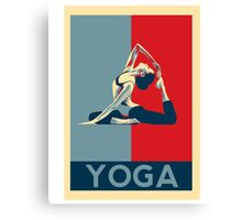 I love yoga - hope poster parody Canvas Print