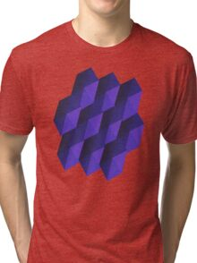 Blue Blocks Art Work Tri-blend T-Shirt