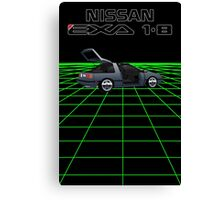 Nissan N13 Exa Coupe Canvas Print