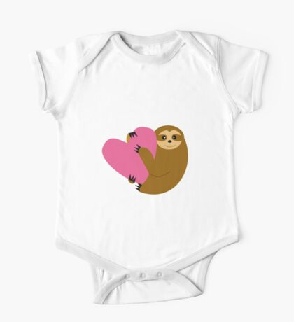 Sloth in Love Blue One Piece - Short Sleeve