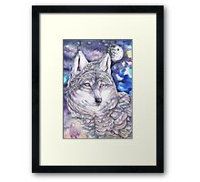 Calm Wolf Moon Framed Print