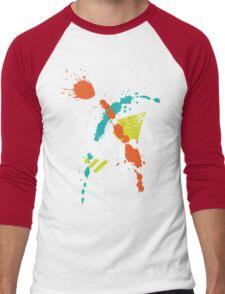Splatoon - Turf Wars 4 Men's Baseball ¾ T-Shirt