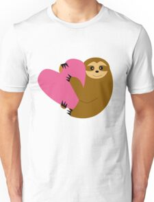 Sloth in love Unisex T-Shirt