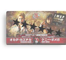 Okada VS Omega WK11 6 Star Match Canvas Print
