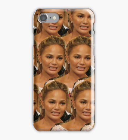 chrissy teigen awkward crying iPhone Case/Skin
