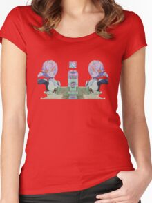 Amine Art with Orange glasses Women's Fitted Scoop T-Shirt