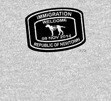 Republic of Newtown - 2014: White on Black Hoodie