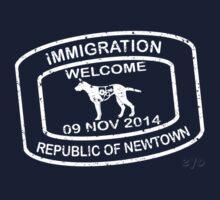 Republic of Newtown - 2014: White Kids Tee