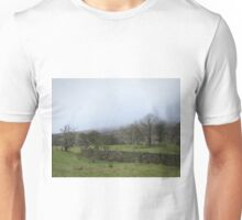 Winter trees on a misty day Unisex T-Shirt