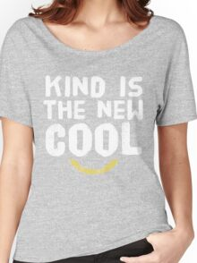 Kind Is the New Cool Hipster Style Graphic Tee Shirt Women's Relaxed Fit T-Shirt