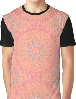 Seamless texture with colored mandalas Graphic T-Shirt