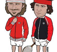 Borg and McEnroe by gcartersdesigns