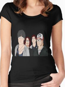 Fall Out Boy Women's Fitted Scoop T-Shirt