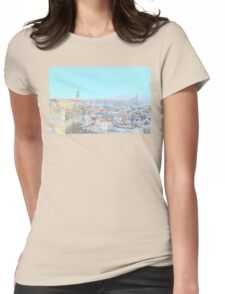 The town of Cesky Krumlov Womens Fitted T-Shirt