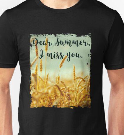 Dear Summer I Miss You - Anti Winter Graphic Tee Shirt Unisex T-Shirt