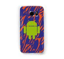 Android Logo mit Zebramuster in blau/orange Samsung Galaxy Case/Skin