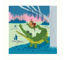 The Alligator and The Armadillo Impression artistique