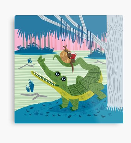 The Alligator and The Armadillo Metal Print
