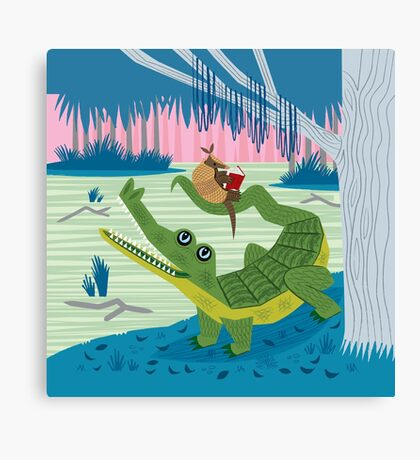 The Alligator and The Armadillo Canvas Print
