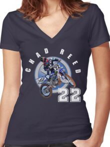 chadreed#22 Women's Fitted V-Neck T-Shirt