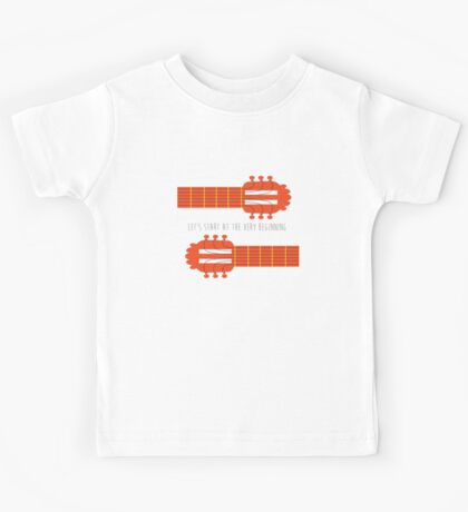 Sound of music guitar quote Kids Tee