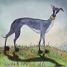 GREYHOUND g919a by Hares & Critters