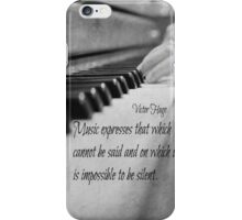 Music Expresses Victor Hugo iPhone Case/Skin