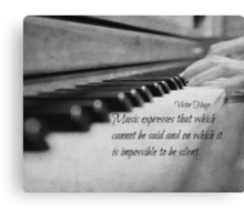 Music Expresses Victor Hugo Canvas Print