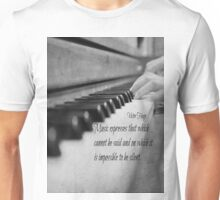 Music Expresses Victor Hugo Unisex T-Shirt
