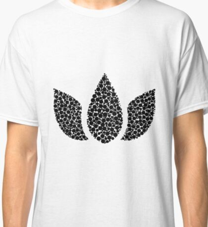 Lotus Flower Circles Black Classic T-Shirt