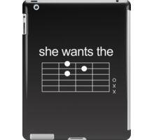 She Wants The D - Guitar Chord [WHITE] iPad Case/Skin