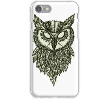 spooky owl face iPhone Case/Skin