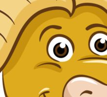 Head of friendly smiling cartoon buffalo Sticker