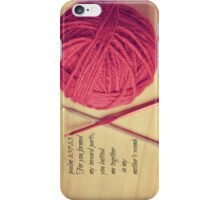 Psalm 139 Knitted together iPhone Case/Skin