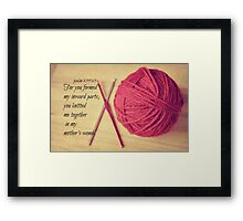 Psalm 139 Knitted together Framed Print