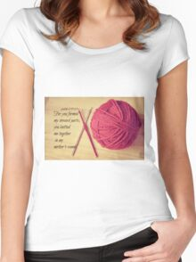 Psalm 139 Knitted together Women's Fitted Scoop T-Shirt