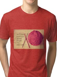 Psalm 139 Knitted together Tri-blend T-Shirt